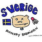 Swedish Monkey Badminton by Ollie Brock