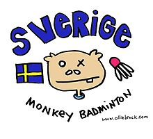 Swedish Monkey Badminton by Ollie Brock