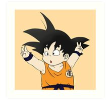 Kid Goku Art Print