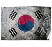 South Korea Grunge Poster