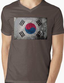 South Korea Grunge Mens V-Neck T-Shirt
