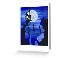 Three Witches (Blue) Greeting Card