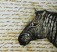 Antique Zebra by Vanessa Zakas