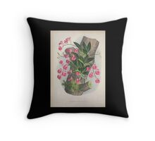 Iconagraphy of Orchids Iconographie des Orchidées Jean Jules Linden V4 1888 0086 Throw Pillow