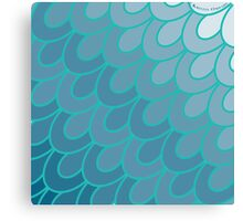 Scales Teal. Canvas Print