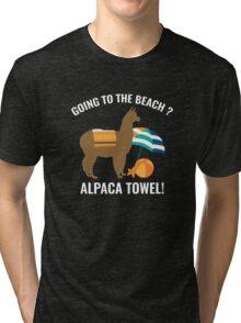 Alpaca Towel Tri-blend T-Shirt
