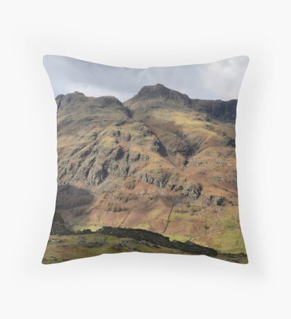 Langdale Pikes from Lingmoor Fell Throw Pillow