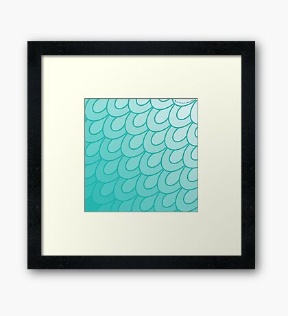 Scales Turquoise. Framed Print