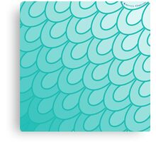 Scales Turquoise. Canvas Print