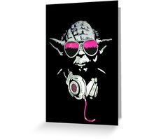 Yoda Headphone Greeting Card