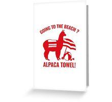 Alpaca Towel Greeting Card