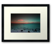 Paradise  at sunrise Framed Print