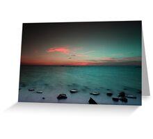 Paradise  at sunrise Greeting Card