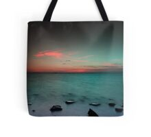 Paradise  at sunrise Tote Bag