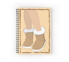 Woolen ugg boots Spiral Notebook