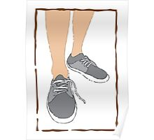 Mens walking sand shoes Poster
