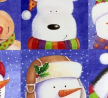 Cute Christmas gang - Santa, Snowman, Penguin, Polar Bear Sticker