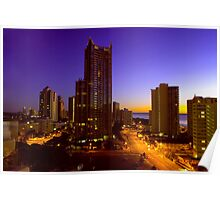 surfers paradise at dawn Poster