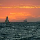 Sunset at Port Phillip Bay by Maksym Hlushko