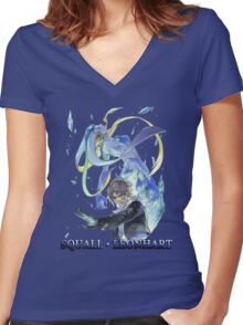Squall Women's Fitted V-Neck T-Shirt