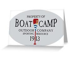 Canoe Crew Canoeing Sports Emblem Greeting Card
