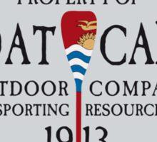 Canoe Crew Canoeing Sports Emblem Sticker