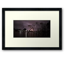 Wimmera River at Night  Framed Print
