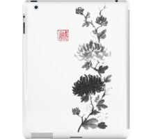 Flower scroll of light and shadow sumi-e painting iPad Case/Skin