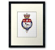 Coat of arms (family crest) for last-name or surname Meeks or Meik (Scotland) . Heraldry banner for your name. Framed Print