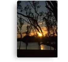 Sunset on the river at Loxton Canvas Print