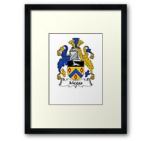 Coat of arms (family crest) for last-name or surname Meggs . Heraldry banner for your name. Framed Print