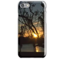 Sunset on the river at Loxton iPhone Case/Skin