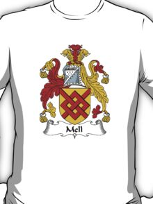 Coat of arms (family crest) for last-name or surname Mell . Heraldry banner for your name. T-Shirt