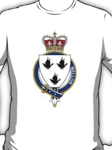 Coat of arms (family crest) for last-name or surname Mellor (England) . Heraldry banner for your name. T-Shirt