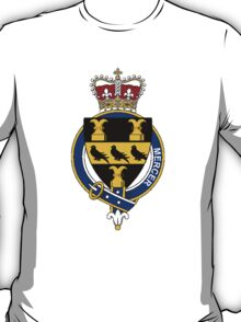 Coat of arms (family crest) for last-name or surname Mercer (England) . Heraldry banner for your name. T-Shirt