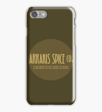Dune - Arrakis Spice co. (version 2) iPhone Case/Skin