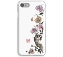Touch of color sumi-e painting iPhone Case/Skin