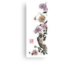 Touch of color sumi-e painting Canvas Print