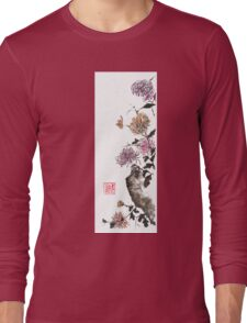 Touch of color sumi-e painting Long Sleeve T-Shirt