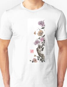 Touch of color sumi-e painting Unisex T-Shirt