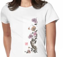 Touch of color sumi-e painting Womens Fitted T-Shirt