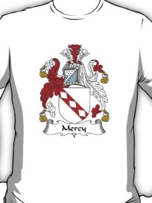Coat of arms (family crest) for last-name or surname Mercy . Heraldry banner for your name. T-Shirt