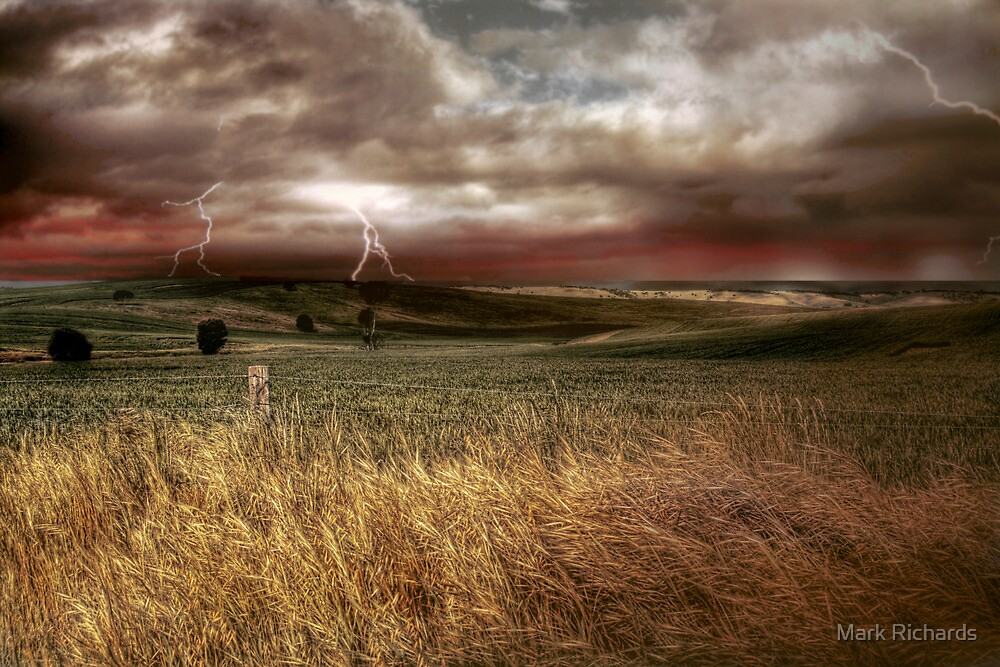 Storm Rising - Kanmantoo, The Adelaide Hills, South Australia by Mark Richards