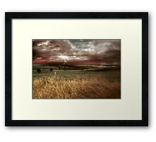 Storm Rising - Kanmantoo, The Adelaide Hills, South Australia Framed Print