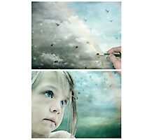 Eyes of Blue - Or Let me Paint your Grey Skies Blue Photographic Print