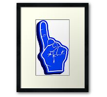 blue Fanfinger Framed Print