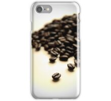 Pile of Fresh Coffee Beans on White with Vignette iPhone Case/Skin