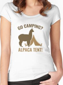 Alpaca Tent Women's Fitted Scoop T-Shirt