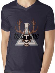 TeaTime logo Mens V-Neck T-Shirt