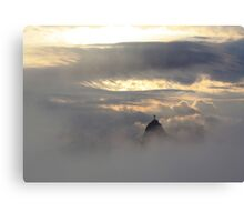 Christ in the Clouds Canvas Print